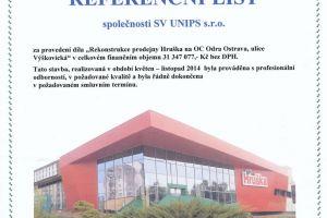 Rekonstrukce prodejny Hruška na OC Odra Ostrava, ulice Výškovická